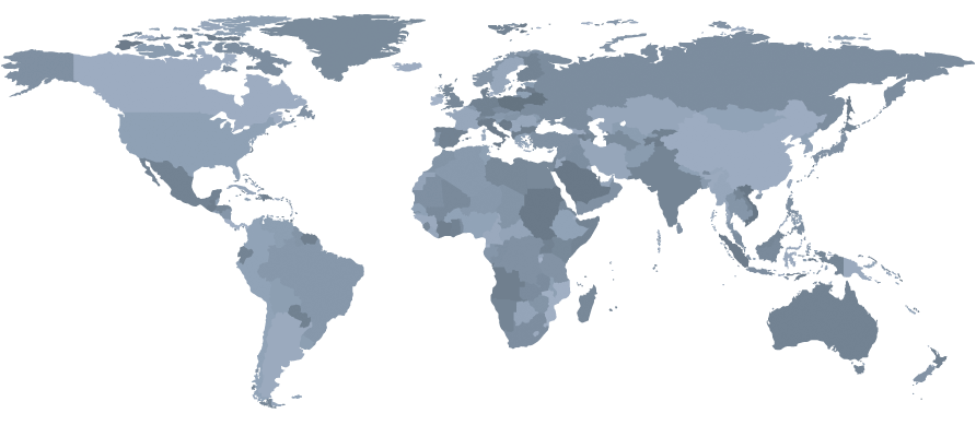 Map with IELA regional chapters